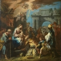 The painting is Sebastiano Ricci's, The Adoration of the Magi, 1726.